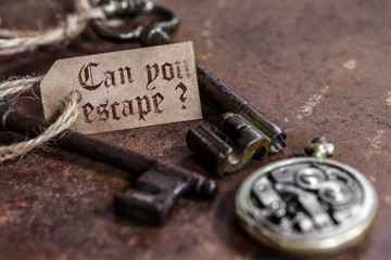 can you escape ? (fond rouille)