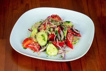 Georgian salad with onion