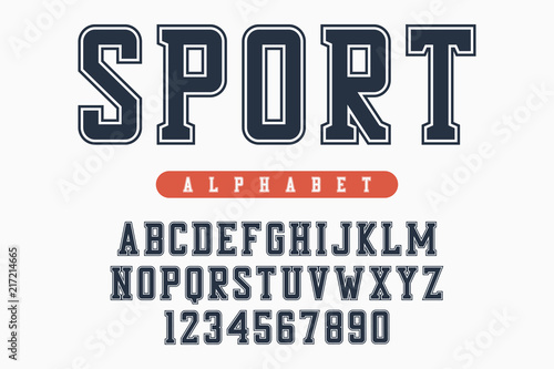 Sport font, original college alphabet  Athletic style