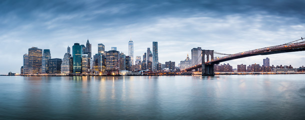 New York city sunset panorama  Wall mural