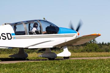 Propeller plane ready for lift off