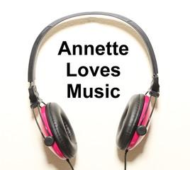 Annette Loves Music Headphone Graphic Original Design