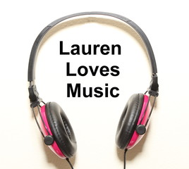 Lauren Loves Music Headphone Graphic Original Design