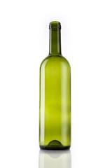 wine bottle isolated white.