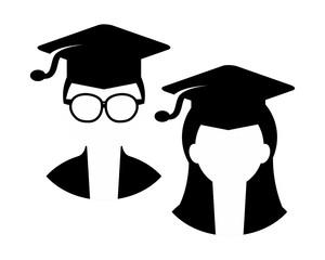 graduation person academy scholar graduate university success image vector icon logo