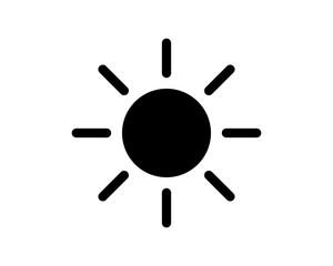 black sun solar energy bright image vector icon logo