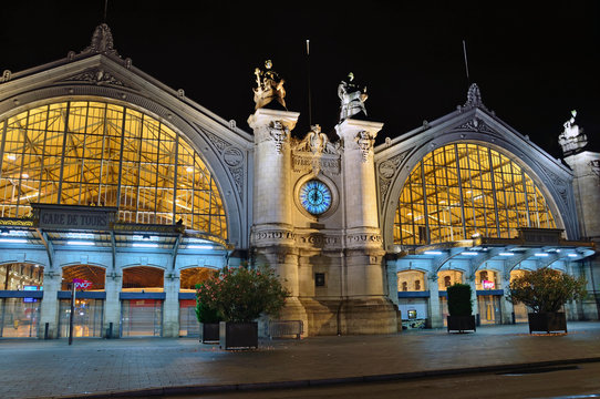 Tours train station in France