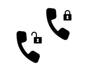 lock the phone communication telecom device image vector icon logo