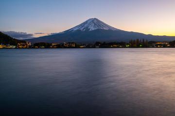 Wall Mural - Mt Fuji in sunset twilight, Japan.