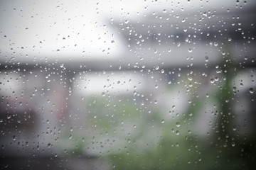 Rain on the glass, lonely atmosphere, sadness, emotion