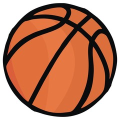 Basketball, single object, sports ball, vector icon