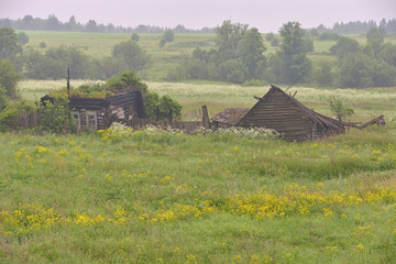 rural landscape - old house