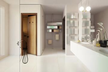 Modernes Badezimmer (Deteilkonzept)