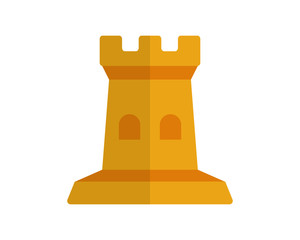 yellow fort chess pawn image vector icon logo