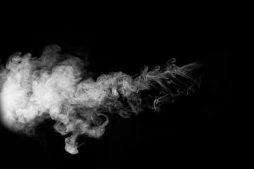 movement of smoke on black background, smoke background,