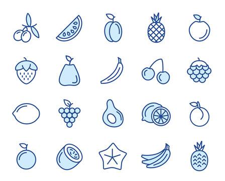 Obst und Früchte Vector Icon Set
