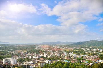 Hight view landscape town