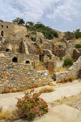 Abandoned village on the Spinalonga Island, Crete, Greece