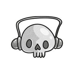 Stippled funny skull