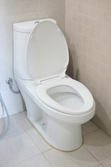 Close-up of toilet bowl