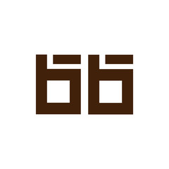 b b Initial Letter lowercase Linked logo icon vector