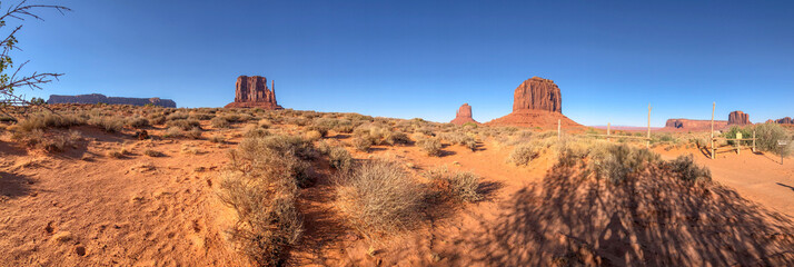 Fototapete - Buttes of Monument Valley, Arizona panoramic view