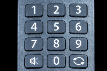 Number switch on the remote control