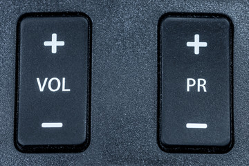 Volume switch and program switch on the remote control