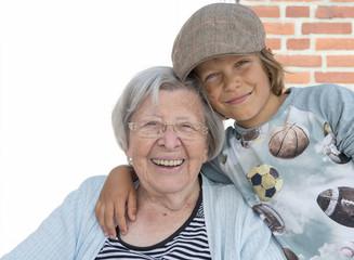 Grandma and Grandson in the Sun