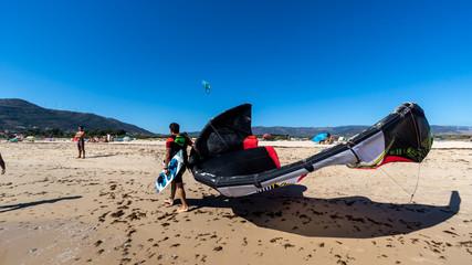 Kitesurfers in Tarifa.