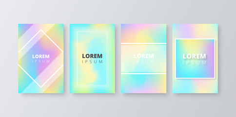 Colorful gala gradient backgrounds with frame.