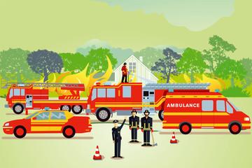 Feuerwehr Einsatzbeim Großbrand