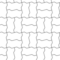 Dichromatic interlocking blocks paving, seamless texture.
