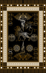 Graphical illustration of a Tarot card 1