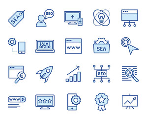 SEO / SEA Marketing Vector Icon Set