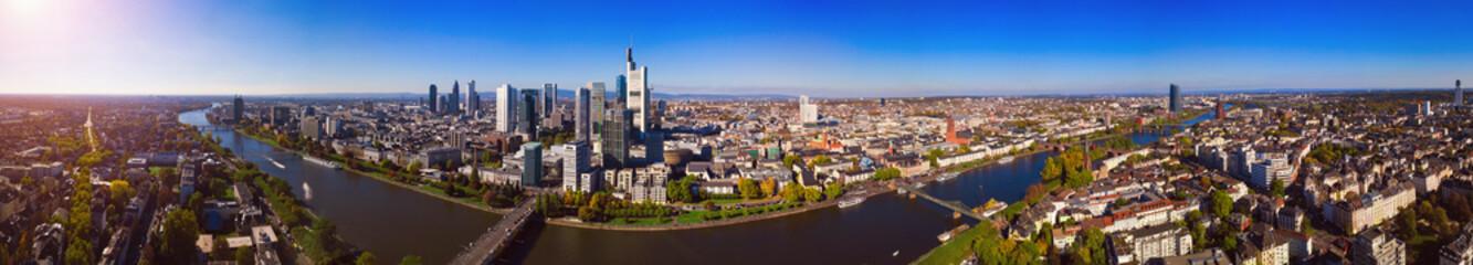 Foto op Canvas frankfurt skyline - panorama