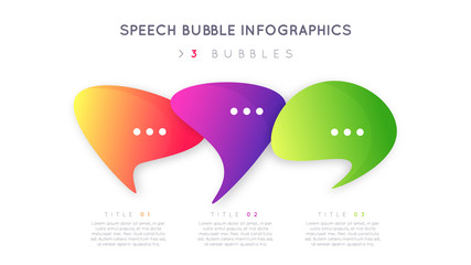 Modern infographic design, template, concept with three optional