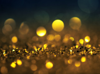 glitter lights grunge background, glitter defocused abstract Twinkly Lights and Stars Christmas Background..