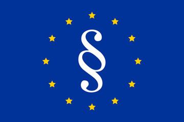 paragraph, symbol of european law on the eu flag