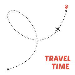 Airplane line path.