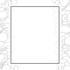 Crocus Flower Outline Banner Card Border