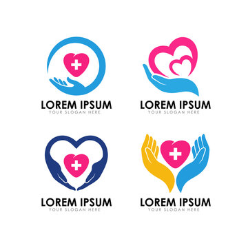 healthy care logo design. heart care logo design. love care logo