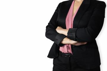 manager donna con braccia incrociate