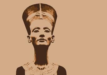 Néfertiti - portrait - reine - personnage - historique - célèbre - politique - reine égyptienne - politicien