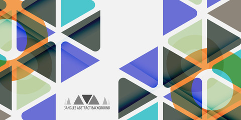 Geometric colorful abstract background