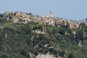 Bussana Vecchia ghost town, Province of Imperia, Italy