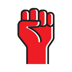 Fist hand up vector icon