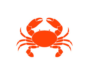 Crab logo. Isolated crab on white background