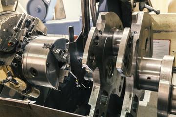 grinding crankshafts, close up