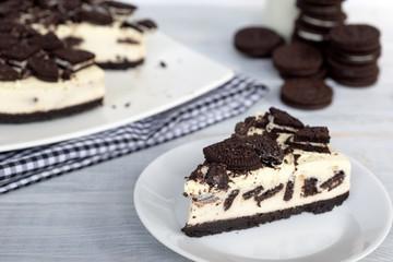 homemade no-bake cookies and cream cheesecake